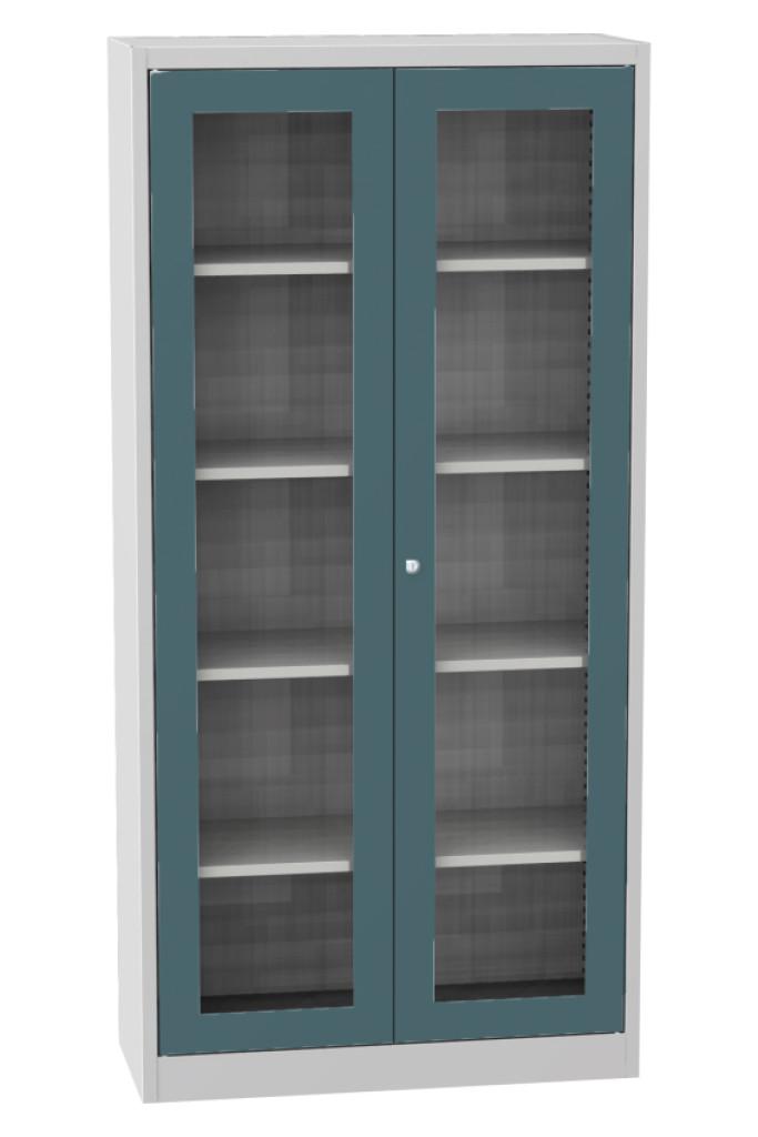 universal schrank sps s1a mit glast ren metalsteel. Black Bedroom Furniture Sets. Home Design Ideas